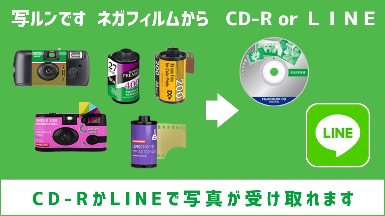 ネガフィルムからLINE